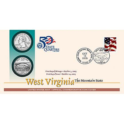 U.S. MINT- 2005 STATE QUARTERS_1ST DAY COVERS_ SET OF FIVE COVERS