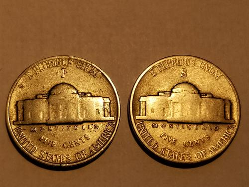 1943 S and 1943 P Set of 2 Jefferson's