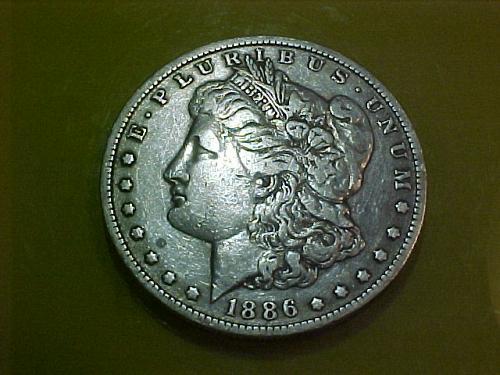 1886 O MORGAN DOLLAR   VERY FINE    aa03