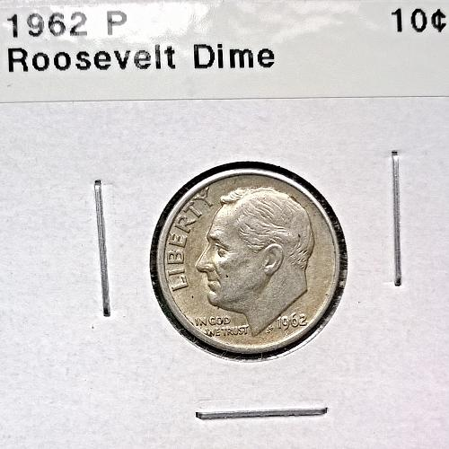 1962 P Roosevelt Dime - 4 Photos!