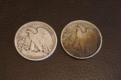 1944 Walking Liberty's- 1944 P and D