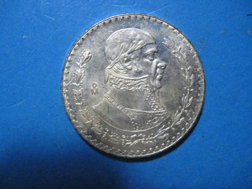 1965 MEXICO 1 PESO .100 SILVER MORALES SUPER NICE CHOICE UNCIRCULATED KEY DATE!