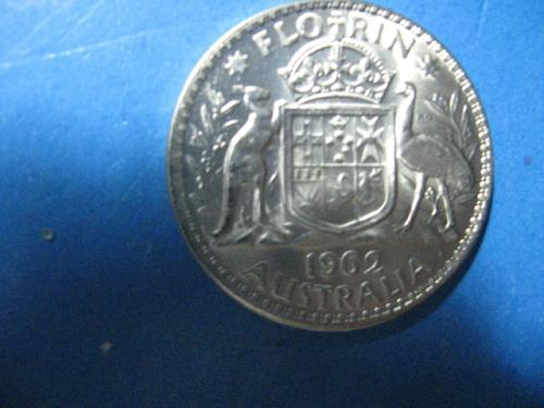 1962  AUSTRALIA 1 FLORIN .500 SILVER FROSTY LUSTER .1818 ASW