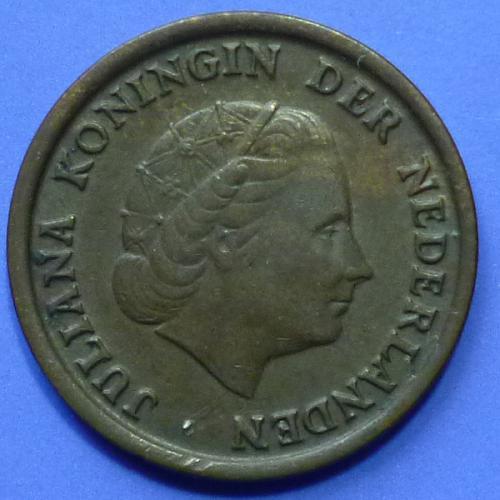Netherlands 1 Cent 1953 km 180