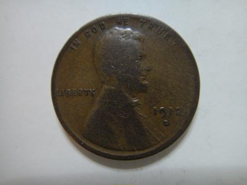1912-D Lincoln Cent Very Good-8 Nice Attractive Minimal Marked Surfaces!