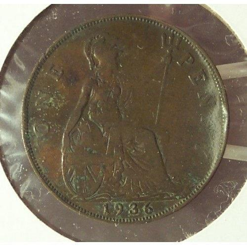 KM #838 Great Britain 1936 Penny VF #01111