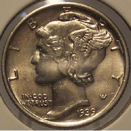 1939-S Mercury Head Dime BU #01112