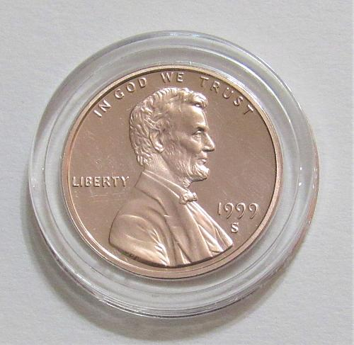 1999-S 1C - Lincoln Memorial Cent - Cameo Proof