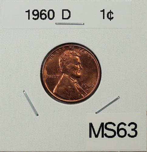1960 D Lincoln Memorial Cent - Small Date