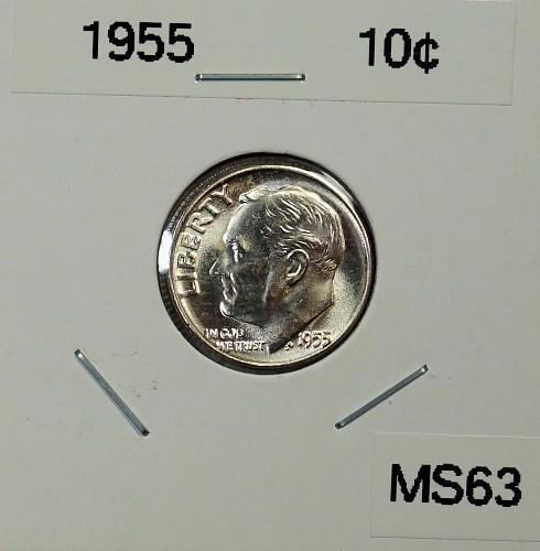 1955 P Roosevelt Dime