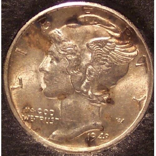 1943-S Mercury Head Dime BU #01128