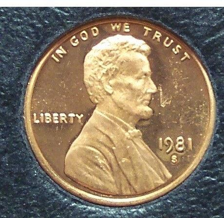 1981-S Proof Lincoln Memorial Penny Typ 1 #01131