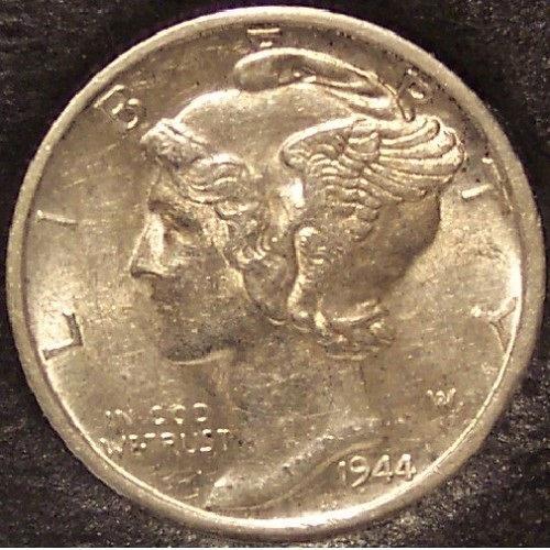 1944-D Mercury Head Dime BU #01133