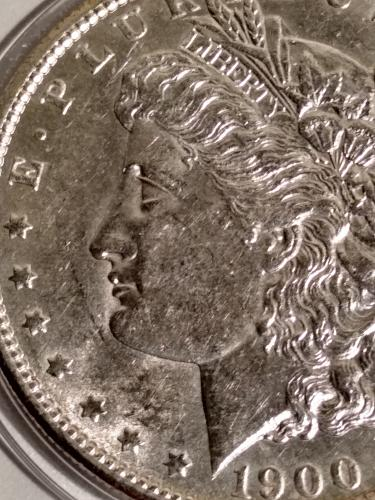 1900-P Morgan Silver Dollar. MS