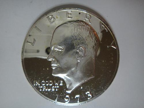 1973-S SILVER Proof Eisenhower Dollar PF-65 (GEM) KEY DATE!