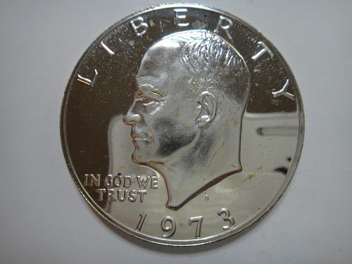 1973-S SILVER Proof Eisenhower Dollar PF-65 (GEM) KEY DATE!