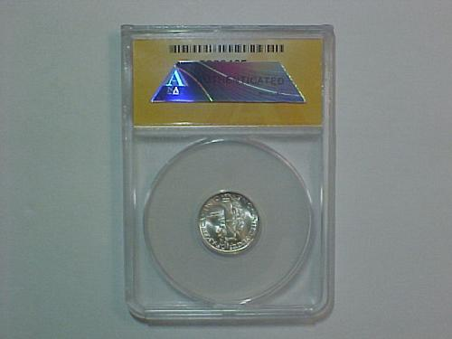 1945 D MERCURY DIME ANACS MS 66 FSB  GREAT BLAST WHITE COIN