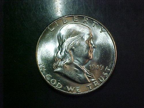 1949 S FRANKLIN HALF DOLLAR  KEY DATE    aa34