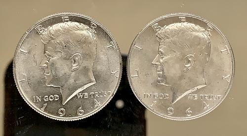 1964 P/D Lot (2) High Grade JFK Silver US Half Dollars -