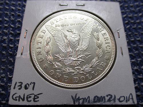 1921 AU58 Morgan Dollar.  VAM 8R.  Item: VAM DM 21-01.