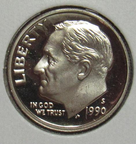 1990 S Proof Roosevelt Dime