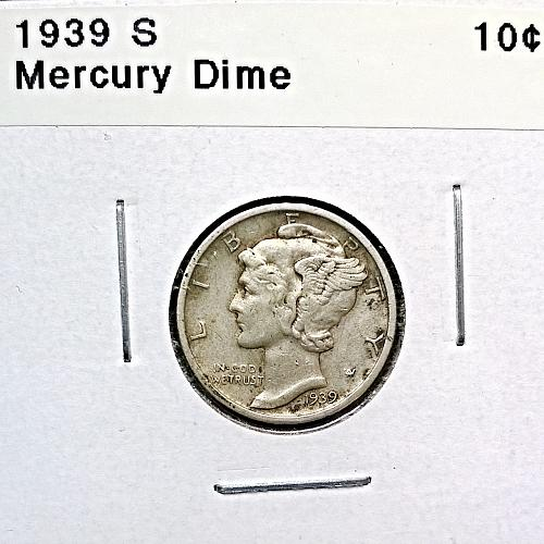 1939 S Mercury Dime - 4 Photos!