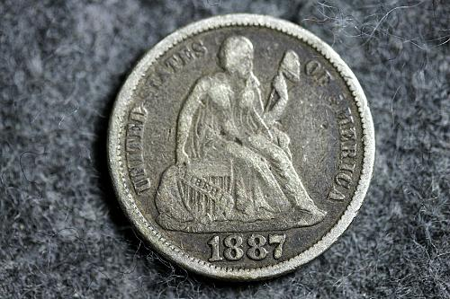1887 Old Silver Seated Liberty Dime!