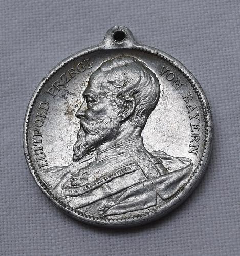 1904 GERMAN STATES: BAVARIA - LUITPOLD PRINCE REGENT OF BAVARIA MEDAL