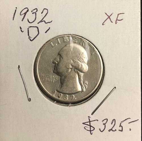 1932-D Washington Quarter Silver  XF