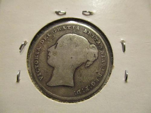 1844 UK Shilling (Silver) $ Mexican coins (silver)              (5 coin Lot)