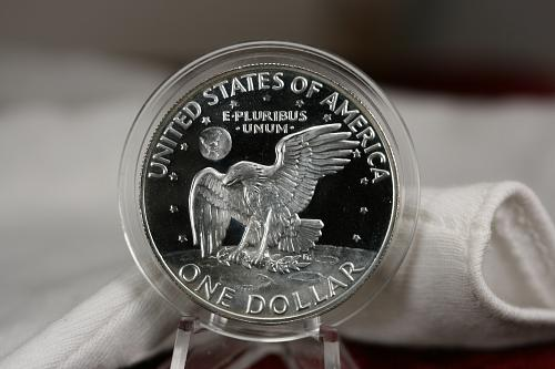 Key Date 1973 S Eisenhower 40% Proof Silver Dollar