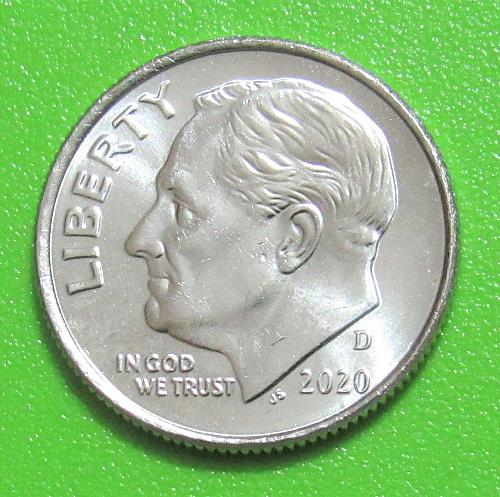 2020-D 10 Cents - Roosevelt Dime - Uncirculated from Mint Roll