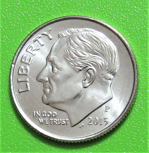 2015-P 10 Cents - Roosevelt Dime - Uncirculated from Mint Roll