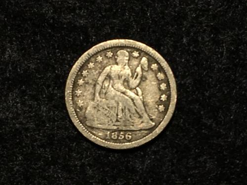 1856 LIBERTY SEATED DIME, SMALL DATE We combine shipping!