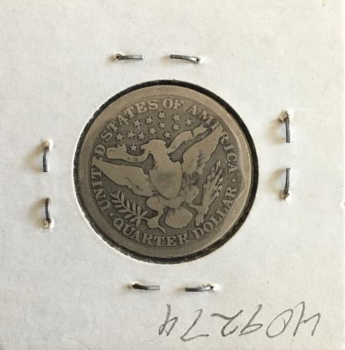 1898 Silver Barber Quarter G  PRICE REDUCED