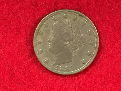 "1883 Liberty Nickel Type II With Cents ""V"" Nickel - Better date!  FREE SHIPPING!"