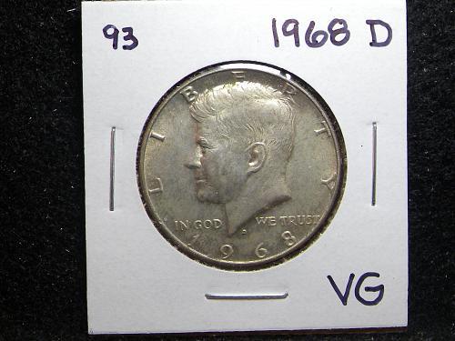1968 D Kennedy Half Dollar