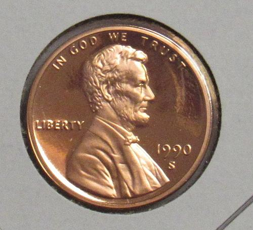 1990 S Proof Lincoln Memorial Cent