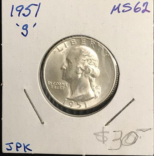 1951-S Washington Quarter Silver