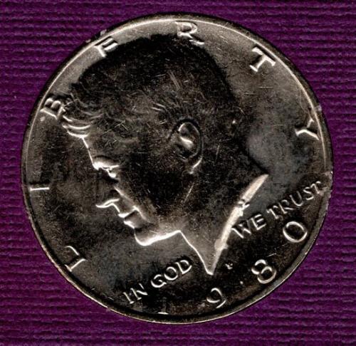 1980 D Kennedy Half Dollars - #3
