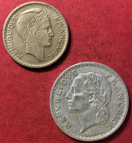 France 1949 - 10 and 5 Francs [#2]