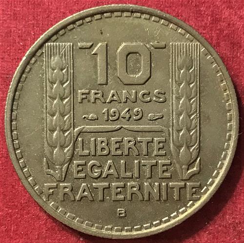 France 1949 B - 10 Francs [#1]