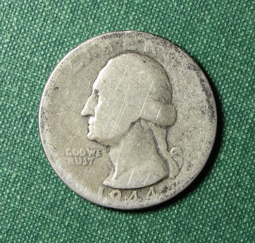 1944P Washington Silver Quarter