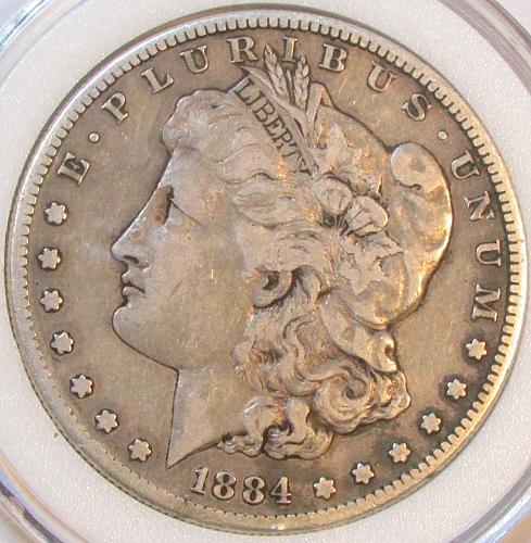 1884s Morgan Dollar