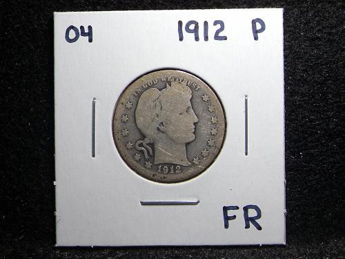 1912 P Barber Quarter