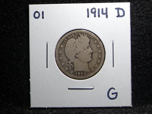 1914 D Barber Quarter