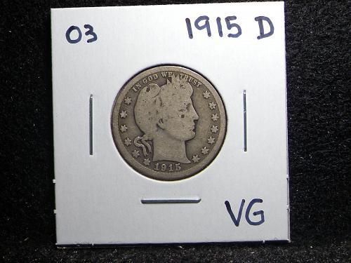 1915 D Barber Quarter