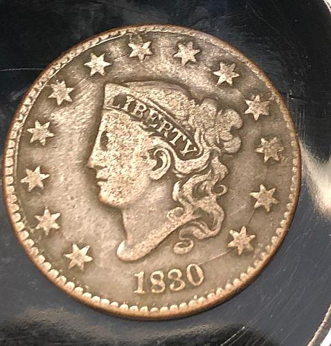 1830 Coronet Liberty Head Large Cent