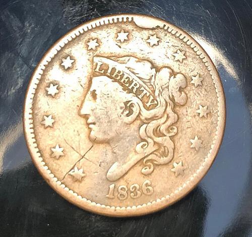 1836 Coronet Liberty Head Large Cent