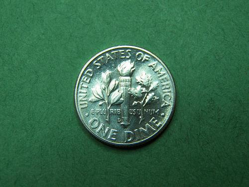 1955 D Roosevelt Dime Brilliant Uncirculated Coin u95